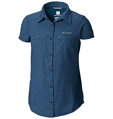 Irico™ kurzärmeliges Damenhemd Irico™ Short Sleeve Shirt | 027 | XS, Petrol Blue Heather, front
