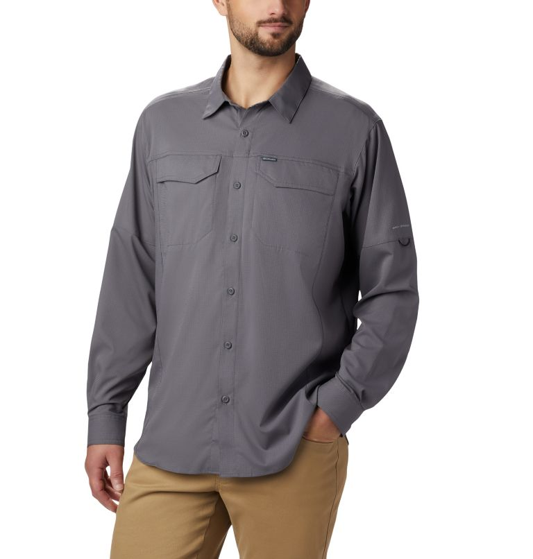 Silver Ridge Lite™ Long Sleeve Shirt | 023 | M Men's Silver Ridge Lite™ Long Sleeve Shirt, City Grey, front