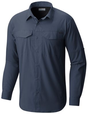 Cool Grey Men's Silver Ridge Lite Long Sleeve Shirt Style Columbia 1654321