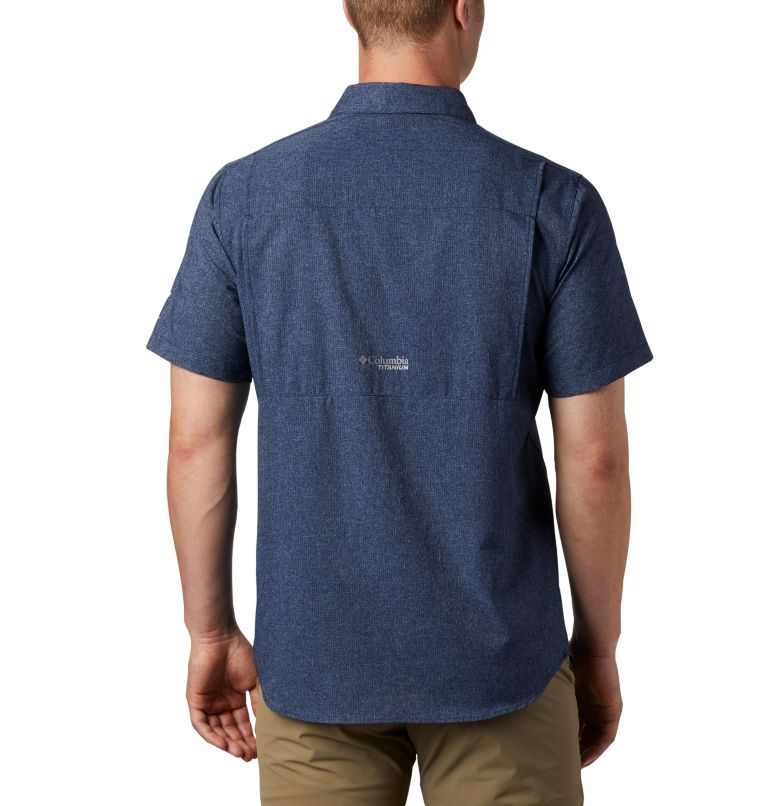 Irico™ Men's Short Sleeve Shirt | 465 | M Men's Irico™ Short Sleeve Shirt, Collegiate Navy, back