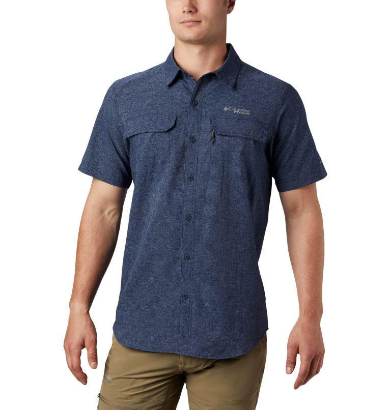 Irico™ Men's Short Sleeve Shirt | 465 | M Men's Irico™ Short Sleeve Shirt, Collegiate Navy, front