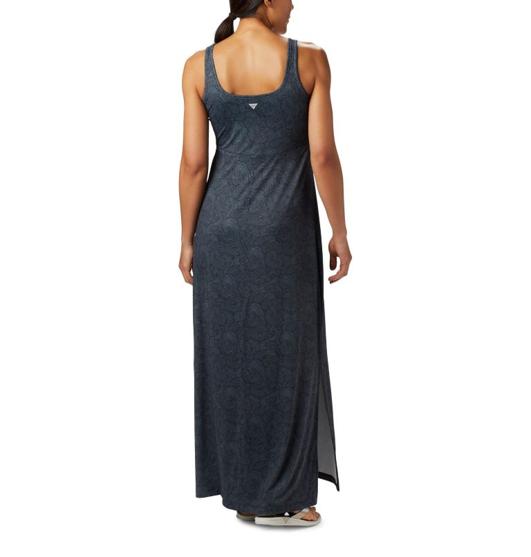 Freezer™ Maxi Dress | 011 | XS Women's PFG Freezer™ Maxi Dress, Black Seaside Swirls Print, back