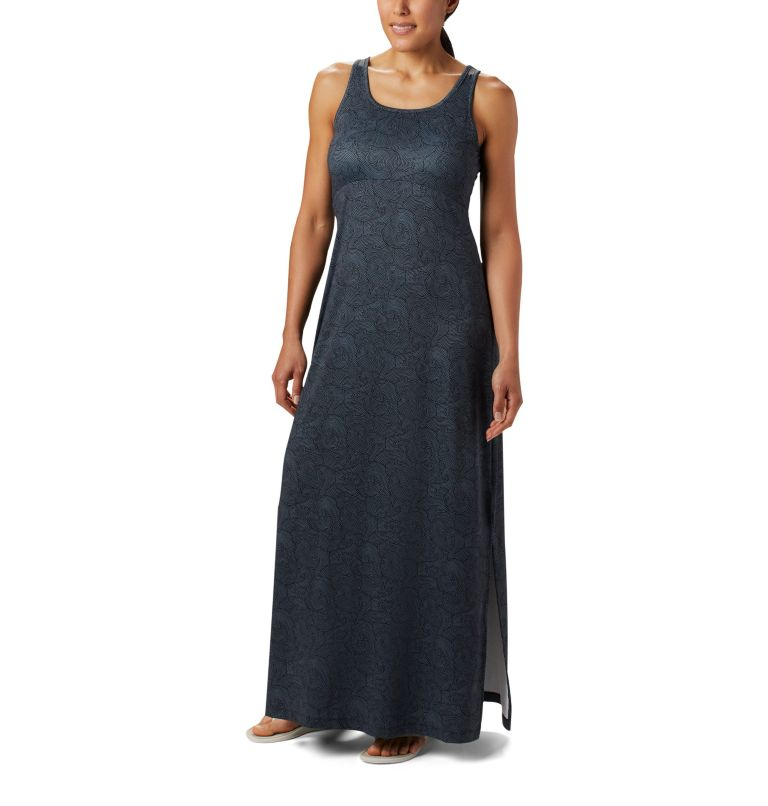 Freezer™ Maxi Dress | 011 | M Women's PFG Freezer™ Maxi Dress, Black Seaside Swirls Print, front