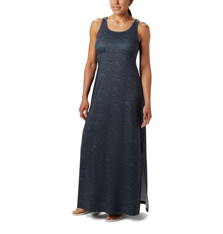 Freezer™ Maxi Dress   011   S Women's PFG Freezer™ Maxi Dress, Black Seaside Swirls Print, front