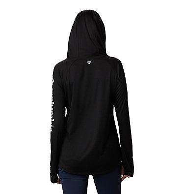 Women's PFG Tidal Tee™ Hoodie Tidal Tee™ Hoodie   463   L, Black, Cirrus Grey Logo, back