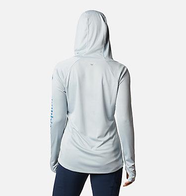 Women's PFG Tidal Tee™ Hoodie Tidal Tee™ Hoodie   463   L, Cirrus Grey, Stormy Blue Logo, back
