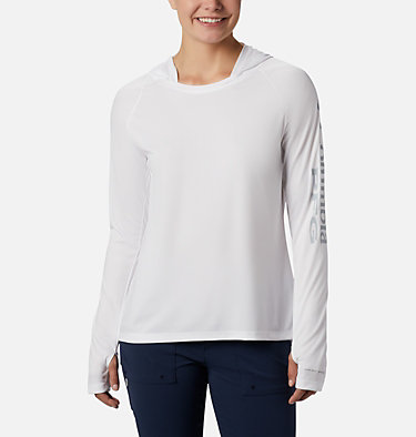 Chandail à capuchon Tidal Tee™ pour femme Tidal Tee™ Hoodie | 658 | S, White, Cirrus Grey Logo, front