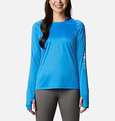 Women's PFG Tidal Tee™ Hoodie Tidal Tee™ Hoodie   463   L, Azure Blue, Air Logo, front