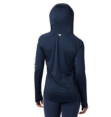 Women's PFG Tidal Tee™ Hoodie Tidal Tee™ Hoodie   463   L, Collegiate Navy, White Logo, back