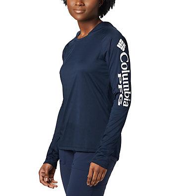 Women's PFG Tidal Tee™ Hoodie Tidal Tee™ Hoodie   463   L, Collegiate Navy, White Logo, front