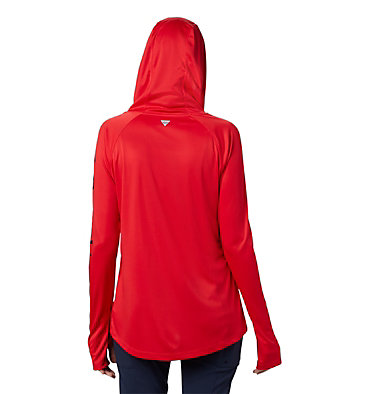 Chandail à capuchon Tidal Tee™ pour femme Tidal Tee™ Hoodie | 658 | S, Red Lily, Collegiate Navy Logo, back