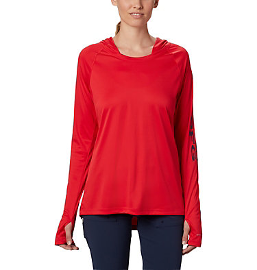 Chandail à capuchon Tidal Tee™ pour femme Tidal Tee™ Hoodie | 658 | S, Red Lily, Collegiate Navy Logo, front