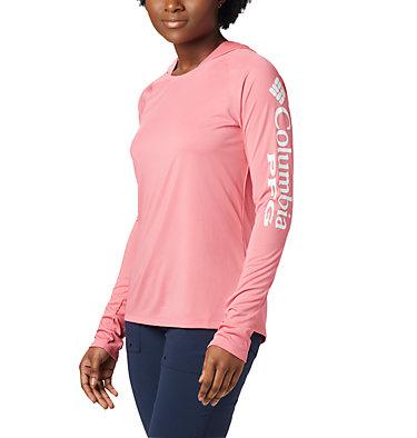 Women's PFG Tidal Tee™ Hoodie Tidal Tee™ Hoodie   463   L, Lollipop, White Logo, front