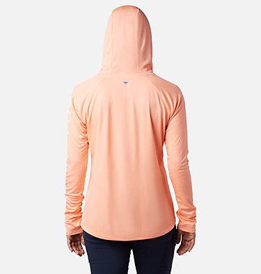 Women's PFG Tidal Tee™ Hoodie Tidal Tee™ Hoodie   463   L, Tiki Pink, White Logo, back