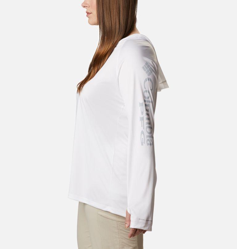 Tidal Tee™ Hoodie   102   2X Women's PFG Tidal Tee™ Hoodie - Plus Size, White, Cirrus Grey Logo, a1
