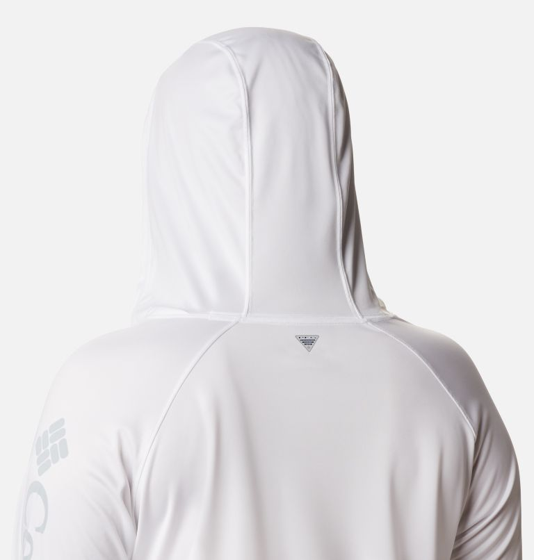 Tidal Tee™ Hoodie   102   2X Women's PFG Tidal Tee™ Hoodie - Plus Size, White, Cirrus Grey Logo, a3
