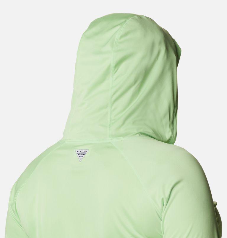 Tidal Tee™ Hoodie | 398 | 3X Women's PFG Tidal Tee™ Hoodie - Plus Size, Lime Glow, White Logo, a3
