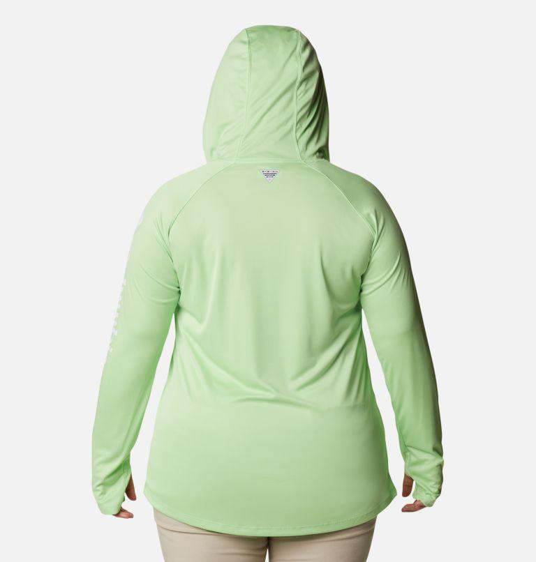 Tidal Tee™ Hoodie | 398 | 3X Women's PFG Tidal Tee™ Hoodie - Plus Size, Lime Glow, White Logo, back