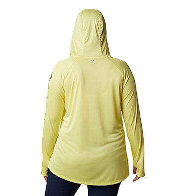 Women's PFG Tidal Tee™ Hoodie - Plus Size Tidal Tee™ Hoodie | 356 | 1X, Sunnyside, City Grey Logo, back