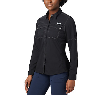 Women's PFG Lo Drag™ Long Sleeve Shirt Lo Drag™ Long Sleeve Shirt | 917 | L, Black, front