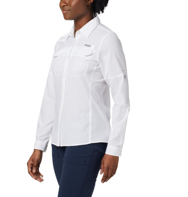 Lo Drag™ Long Sleeve Shirt | 100 | XL Women's PFG Lo Drag™ Long Sleeve Shirt, White, front