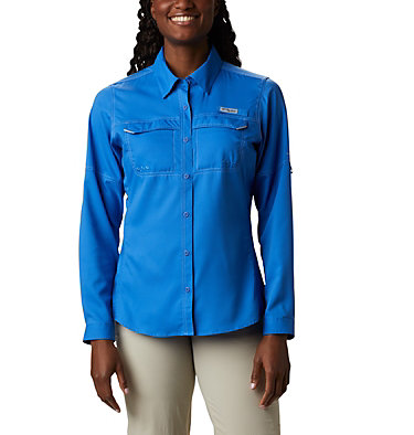 Women's PFG Lo Drag™ Long Sleeve Shirt Lo Drag™ Long Sleeve Shirt | 917 | L, Stormy Blue, front