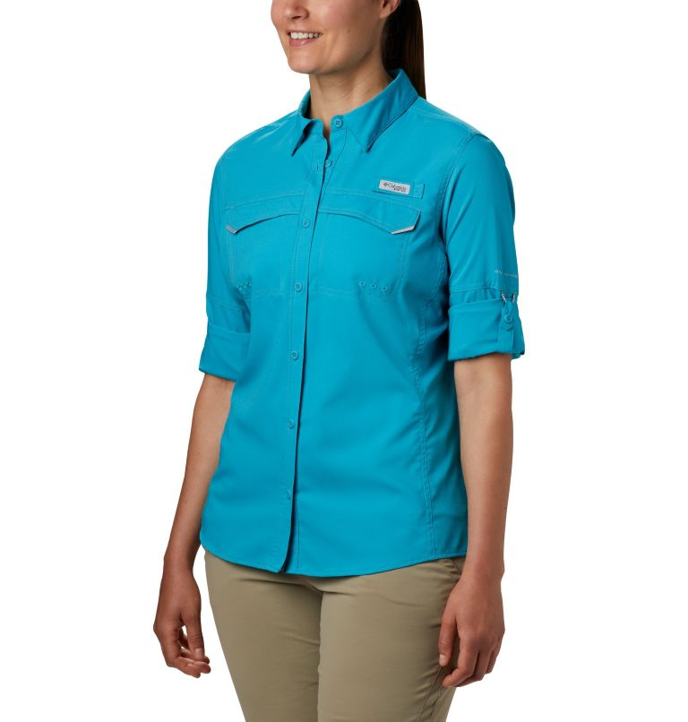 Lo Drag™ Long Sleeve Shirt | 450 | M Women's PFG Lo Drag™ Long Sleeve Shirt, Clear Water, a1