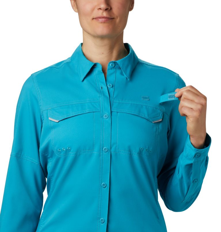 Lo Drag™ Long Sleeve Shirt | 450 | M Women's PFG Lo Drag™ Long Sleeve Shirt, Clear Water, a3