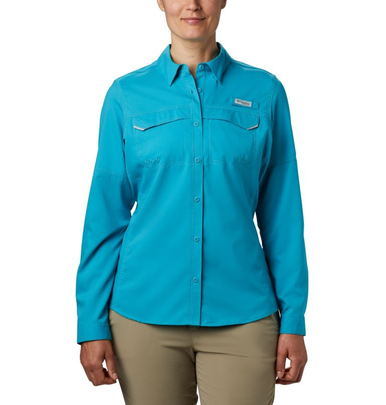 Lo Drag™ Long Sleeve Shirt | 450 | XS Women's PFG Lo Drag™ Long Sleeve Shirt, Clear Water, front