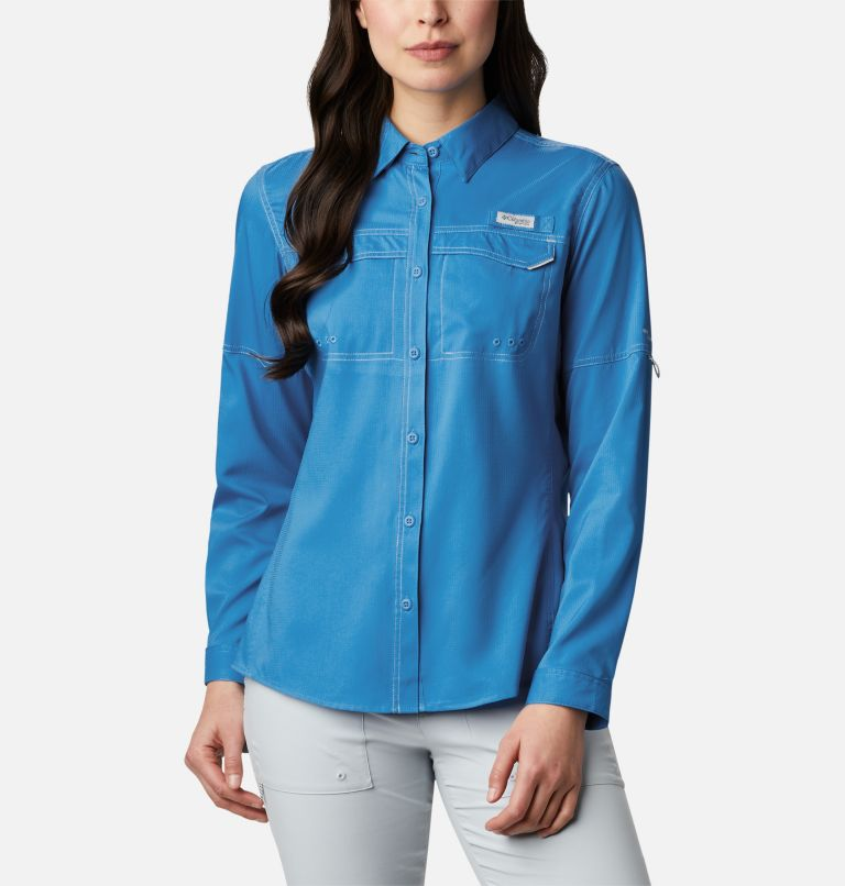 Lo Drag™ Long Sleeve Shirt | 463 | M Women's PFG Lo Drag™ Long Sleeve Shirt, Azure Blue, front