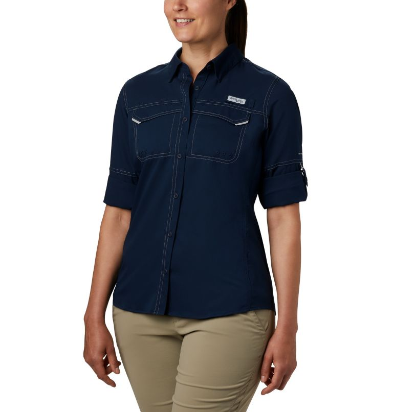 Lo Drag™ Long Sleeve Shirt | 464 | S Women's PFG Lo Drag™ Long Sleeve Shirt, Collegiate Navy, a1