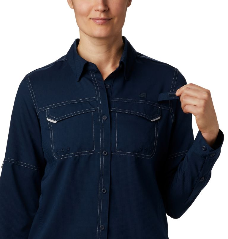 Lo Drag™ Long Sleeve Shirt | 464 | XS Women's PFG Lo Drag™ Long Sleeve Shirt, Collegiate Navy, a3
