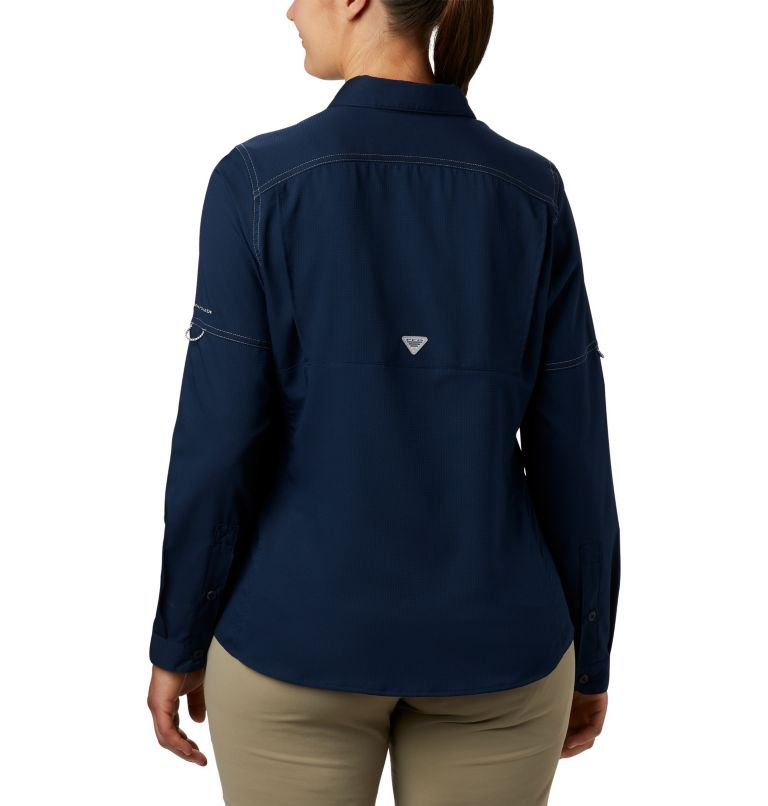 Lo Drag™ Long Sleeve Shirt | 464 | S Women's PFG Lo Drag™ Long Sleeve Shirt, Collegiate Navy, back
