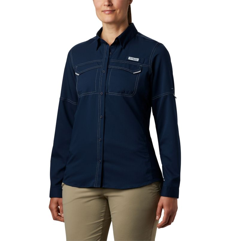 Lo Drag™ Long Sleeve Shirt | 464 | M Women's PFG Lo Drag™ Long Sleeve Shirt, Collegiate Navy, front