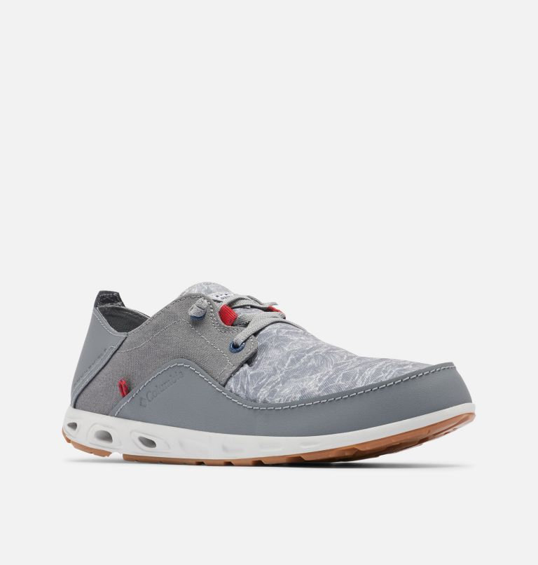 BAHAMA™ VENT RELAXED PFG | 036 | 9 Men's Bahama™ Vent Relaxed PFG Shoe, Monument, Rocket, 3/4 front