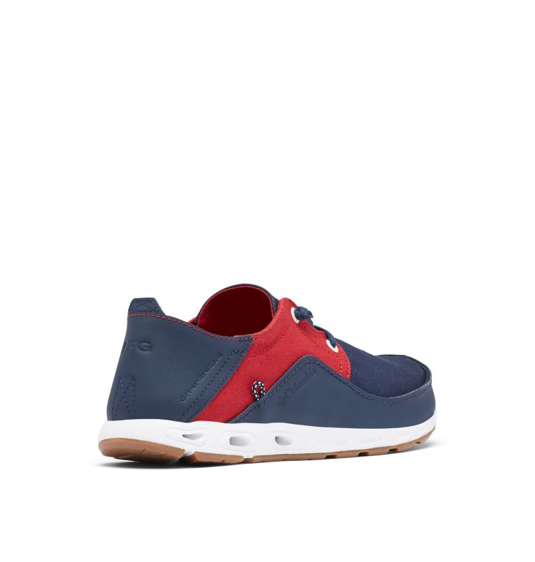 BAHAMA™ VENT RELAXED PFG | 471 | 12 Men's Bahama™ Vent Relaxed PFG Shoe, Collegiate Navy, Rocket, 3/4 back