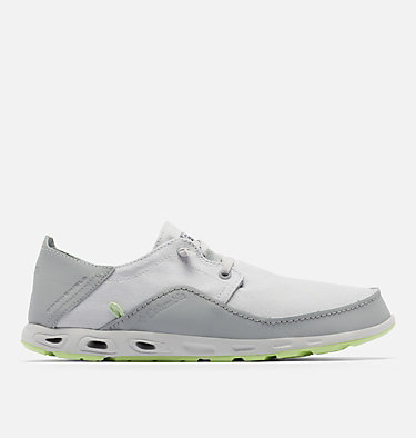 Men's Bahama™ Vent Relaxed PFG Shoe - Wide BAHAMA™ VENT PFG LACE RELAXED WIDE | 471 | 10, Grey Ice, Jade Lime, front