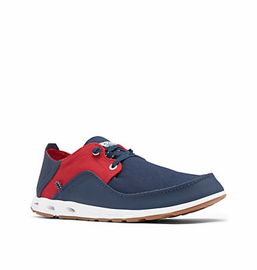 Men's Bahama™ Vent Relaxed PFG Shoe - Wide BAHAMA™ VENT PFG LACE RELAXED WIDE | 471 | 10, Collegiate Navy, Rocket, 3/4 front