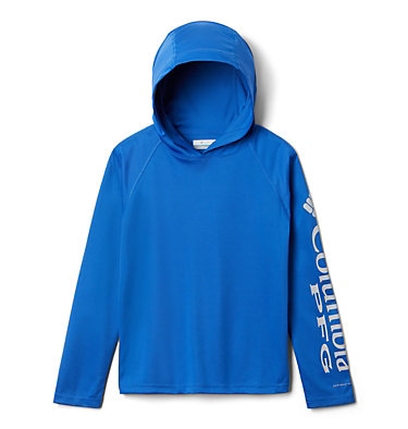 Kids' PFG Terminal Tackle™ Hoodie Terminal Tackle™ Hoodie | 356 | L, Vivid Blue, front