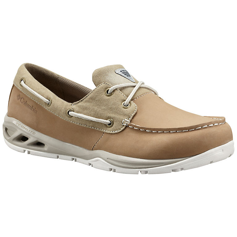 Columbia Men/'s BOATDRAINER™ PFG Omni-Grip Leather Shoe BM2546-250