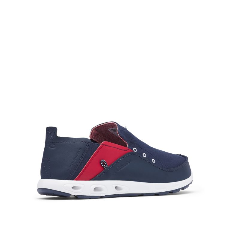 BAHAMA™ VENT PFG WIDE | 468 | 12 Men's PFG Bahama™ Vent Shoe - Wide, Collegiate Navy, Rocket, 3/4 back