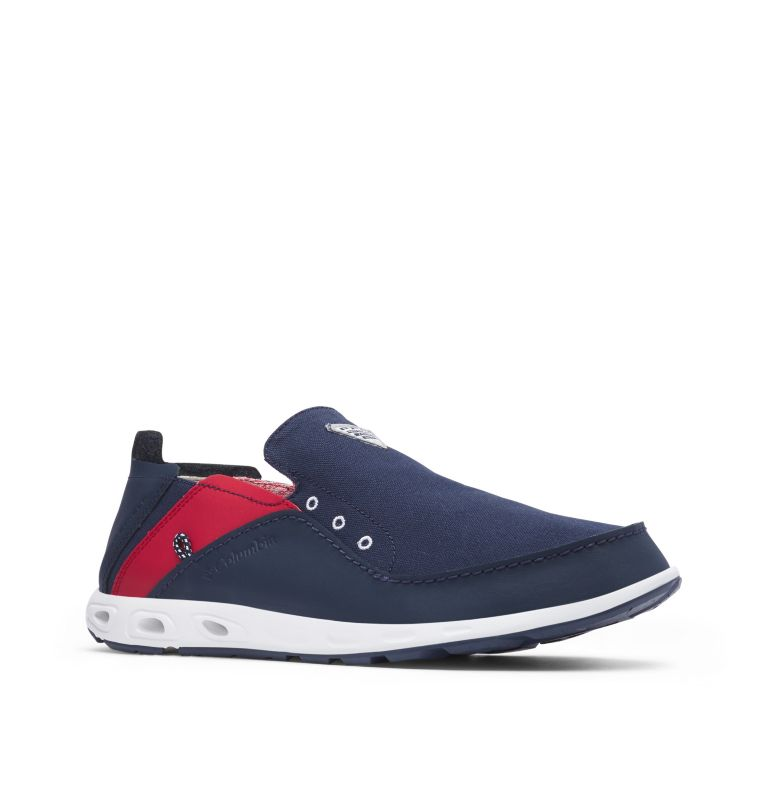 BAHAMA™ VENT PFG WIDE | 468 | 12 Men's PFG Bahama™ Vent Shoe - Wide, Collegiate Navy, Rocket, 3/4 front
