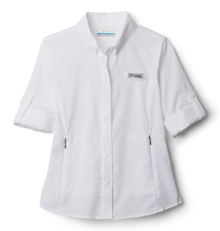 Tamiami™ Long Sleeve Shirt | 100 | XS Girls' PFG Tamiami™ Long Sleeve Shirt, White, a1