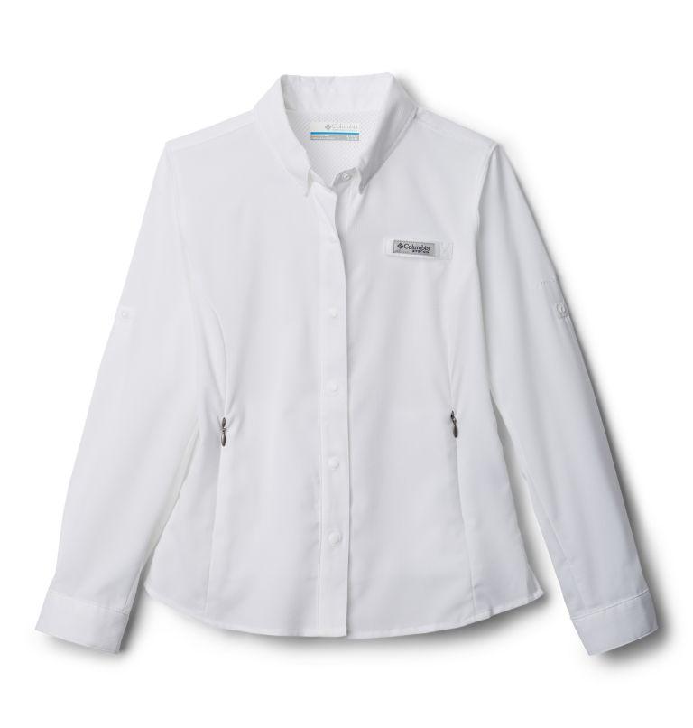 Tamiami™ Long Sleeve Shirt | 100 | XS Girls' PFG Tamiami™ Long Sleeve Shirt, White, front