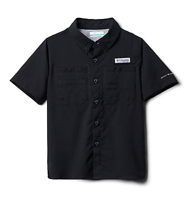 Boys' PFG Tamiami™ Short Sleeve Shirt Tamiami™ Short Sleeve Shirt | 489 | XL, Black, front