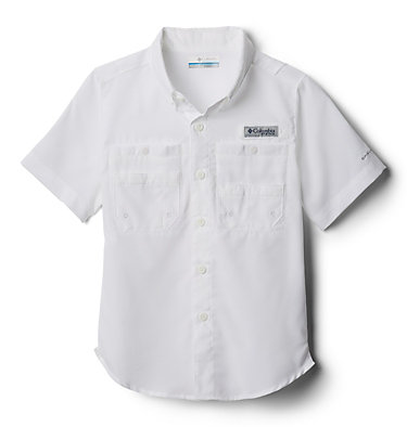 Boys' PFG Tamiami™ Short Sleeve Shirt Tamiami™ Short Sleeve Shirt | 489 | XL, White, front