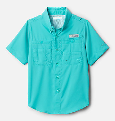 Boys' PFG Tamiami™ Short Sleeve Shirt Tamiami™ Short Sleeve Shirt | 489 | XL, Bright Aqua, front