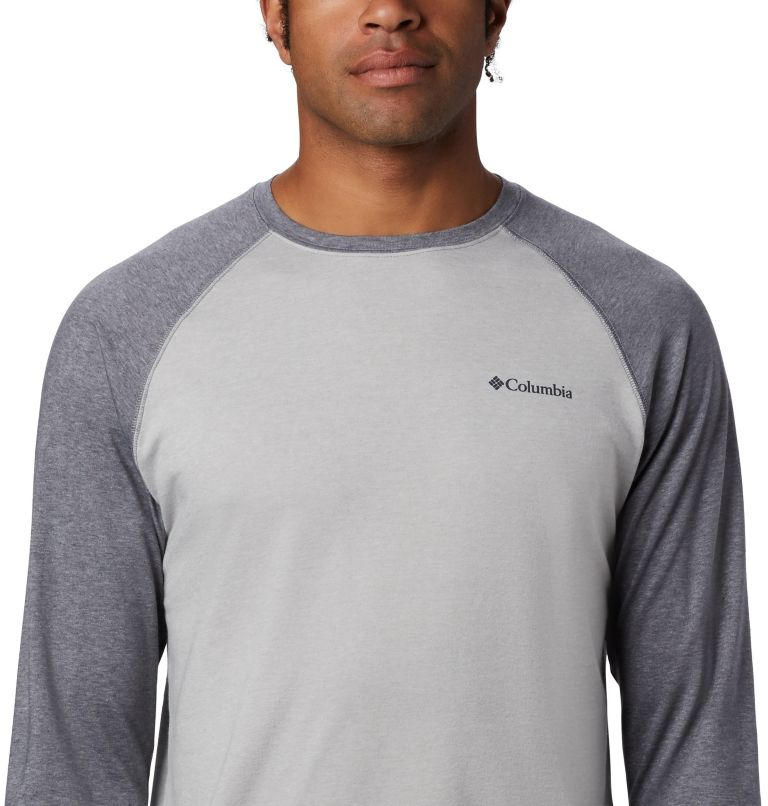 Thistletown Park™ Raglan Tee   039   XXL Men's Thistletown Park™ Raglan Shirt, Columbia Grey Heather, City Grey Heather, a3