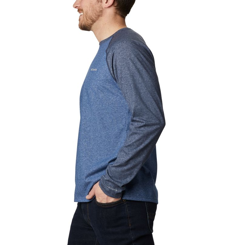 Thistletown Park™ Raglan Tee | 453 | S Men's Thistletown Park™ Raglan Shirt, Night Tide Heather, Collegiate Navy Hthr, a1