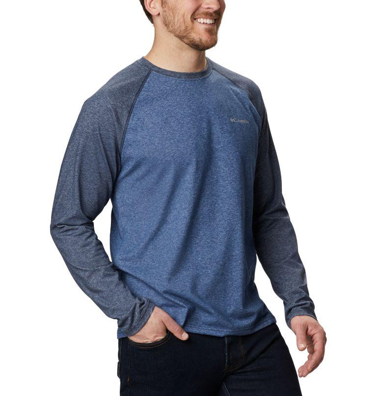 Thistletown Park™ Raglan Tee | 453 | S Men's Thistletown Park™ Raglan Shirt, Night Tide Heather, Collegiate Navy Hthr, a3